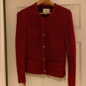Iro refilia tweed jacket red size 40
